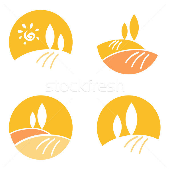 Stock photo: Abstract Country / Landscape design elements & icons - orange