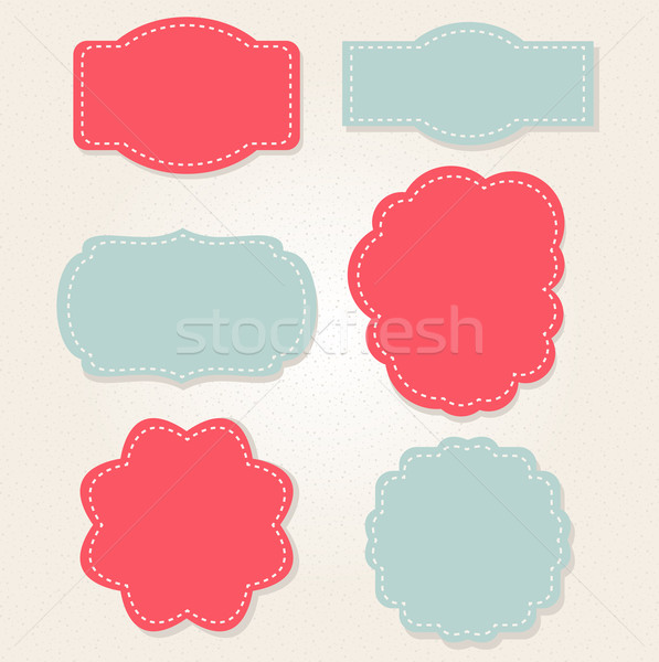 Xmas vintage labels isolated on old beige paper Stock photo © lordalea