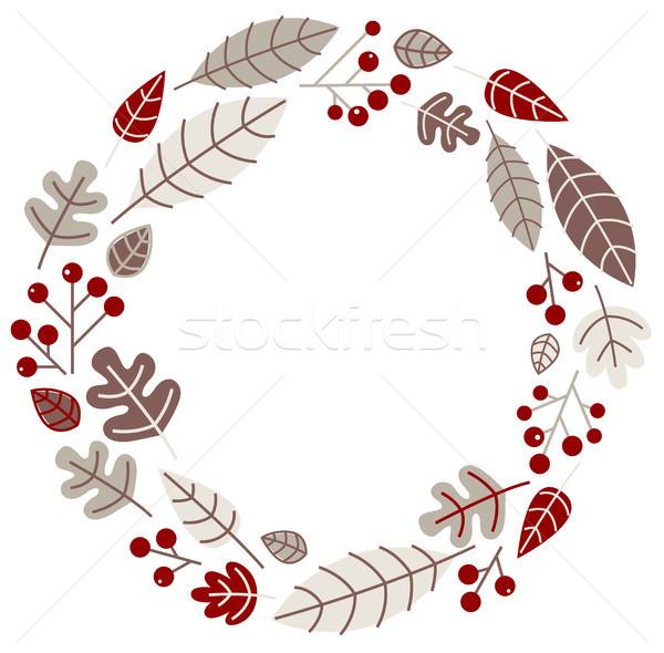Xmas retro holiday wreath isolated on white Stock photo © lordalea