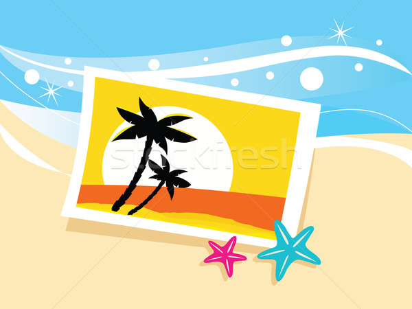 Vacation Photo With Tropical Palms  Stock photo © lordalea