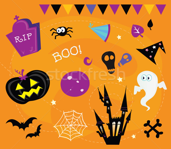 Halloween Icons And Design Elements  Stock photo © lordalea