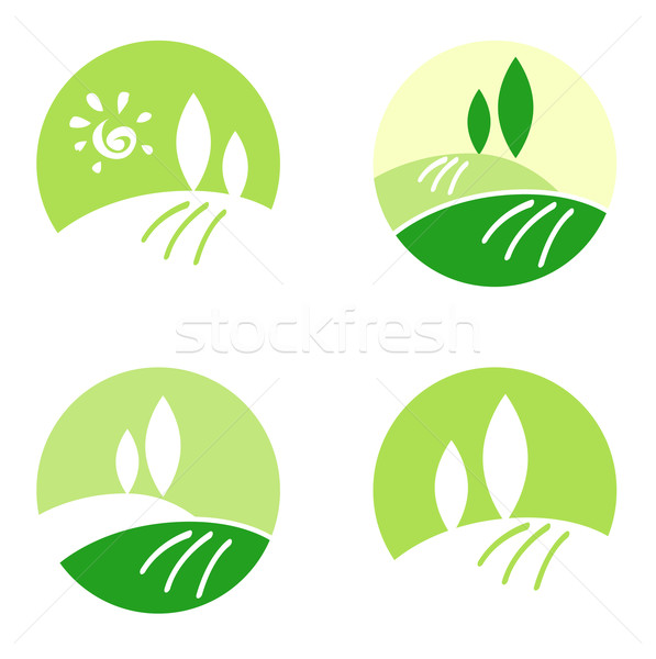 Abstract Country / Rolling Hills design icons & elements concept Stock photo © lordalea