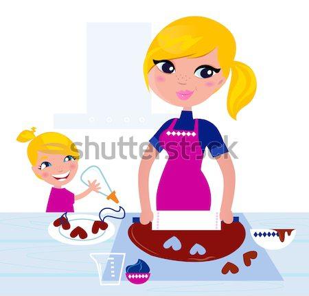 повар женщину подготовленный приготовления изолированный белый Сток-фото © lordalea
