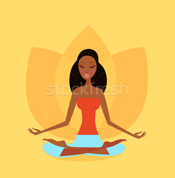 Zen Meditation - Yoga Girl In Lotus Flower Position  Stock photo © lordalea