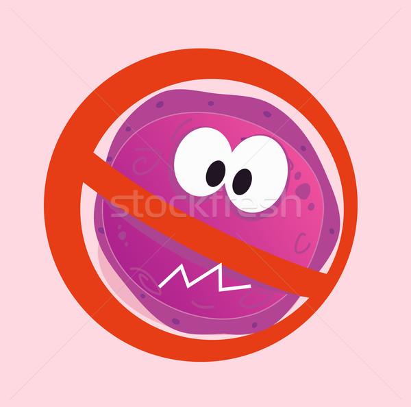 Stop Virus - Aids Virus In Red Alert Sign  Stock photo © lordalea