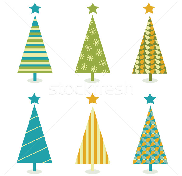 Funky Retro Christmas Tree Design  Stock photo © lordalea