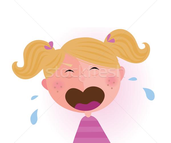 Ağlayan · çocuk vektör karikatür sevimli bebek