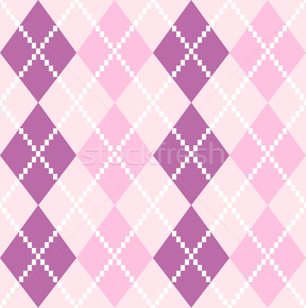 Seamless Argyle Pattern in pastel colors ( pink and purple ) Stock photo © lordalea
