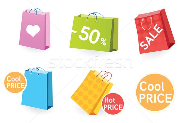 Stok fotoğraf: Büyük · satış · vektör · paketlemek · alışveriş · çantası