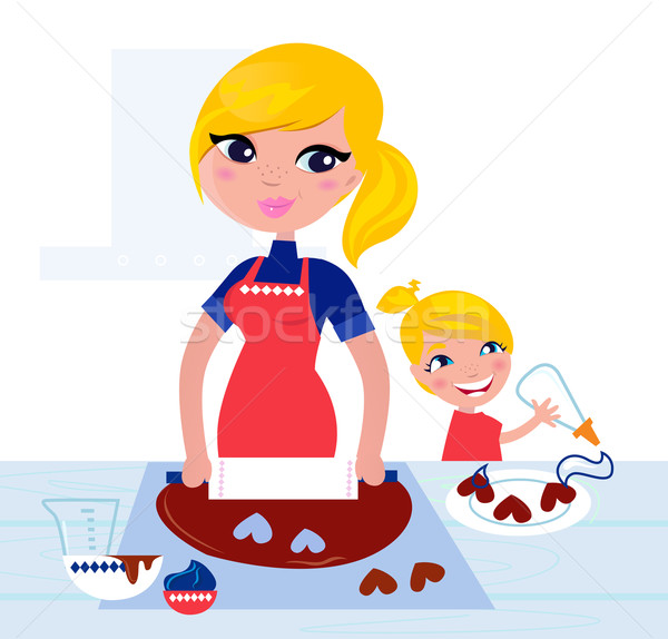 Clipart Of Mother Cooking