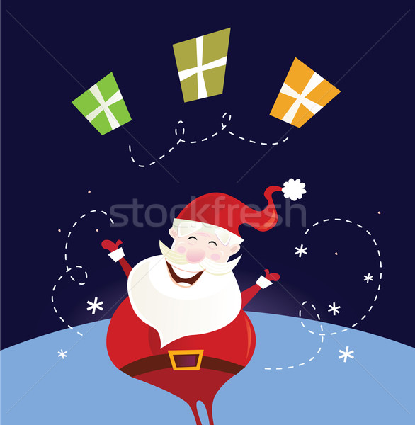 Santa claus with christmas presents Stock photo © lordalea