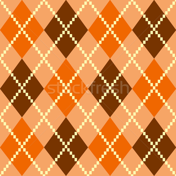 Retro colorful argile pattern or background - brown Stock photo © lordalea