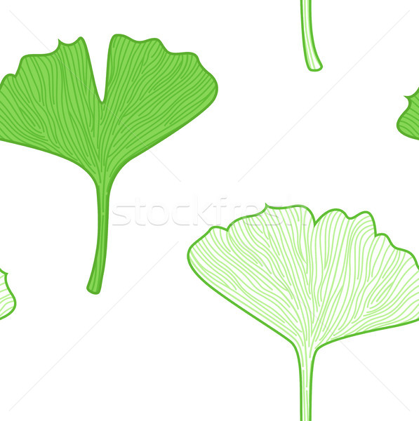 Gingko Leaves seamless pattern - interior wallpaper Stock photo © lordalea