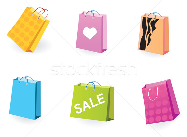 Designer Shopping Bags Icons  Stock photo © lordalea