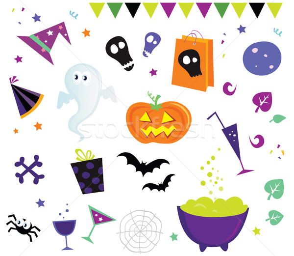 Halloween Vector Design Elements And Icons II Stock photo © lordalea