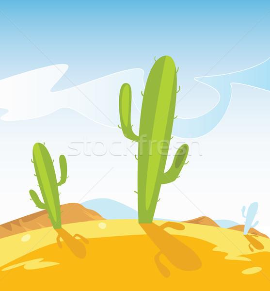 Occidental desierto cactus plantas estilo México Foto stock © lordalea