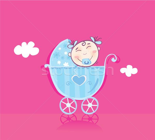 Happy Baby In Pram  Stock photo © lordalea