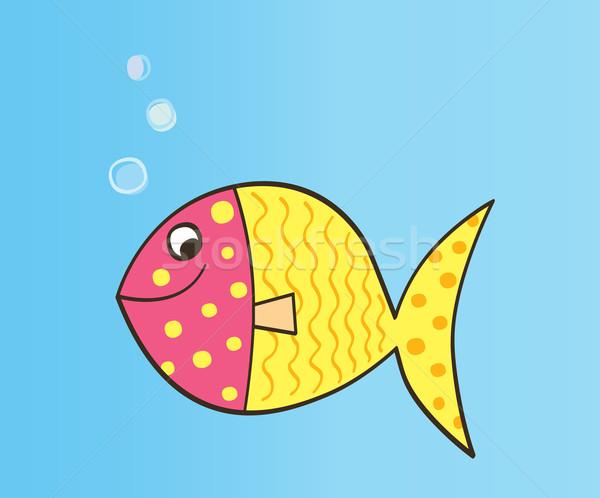 Vector Cartoon Fish  Stock photo © lordalea