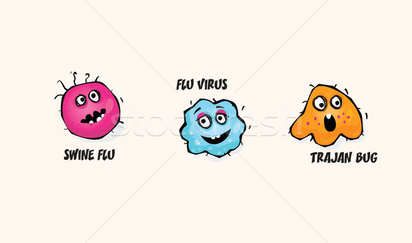 Viruses Set Stock photo © lordalea