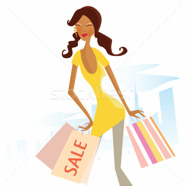 Shopping Woman In Town  Stock photo © lordalea