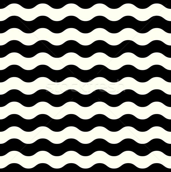 ретро бесшовный волновая картина черно белые аннотация вектора Сток-фото © lordalea