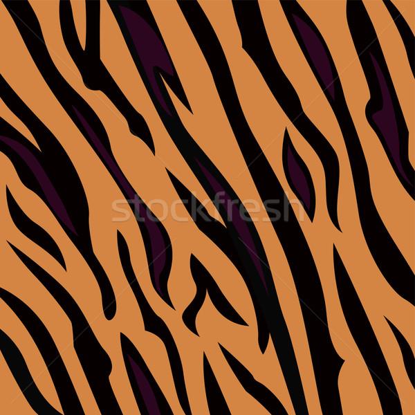 Stock photo: Animal Background Pattern - Tiger Skin Texture