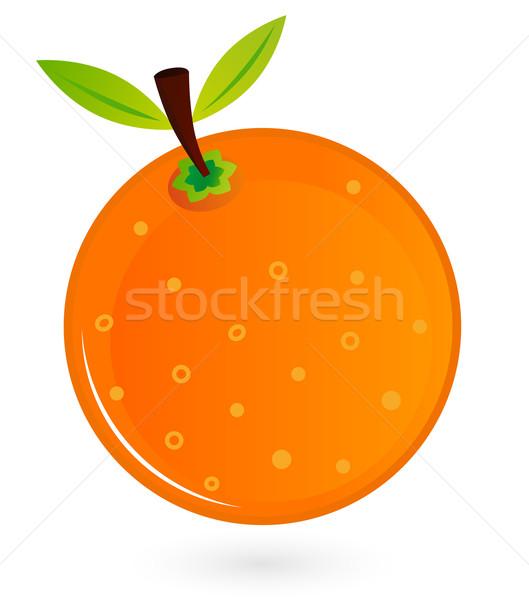Orange fruit isolated on white Stock photo © lordalea