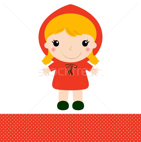 Сток-фото: Cute · красный · верховая · езда · изолированный · белый · девушки