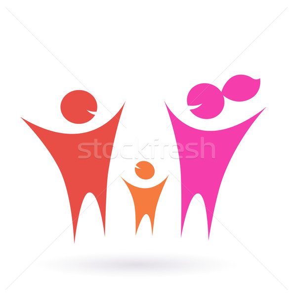 Family, Community and people icon  Stock photo © lordalea
