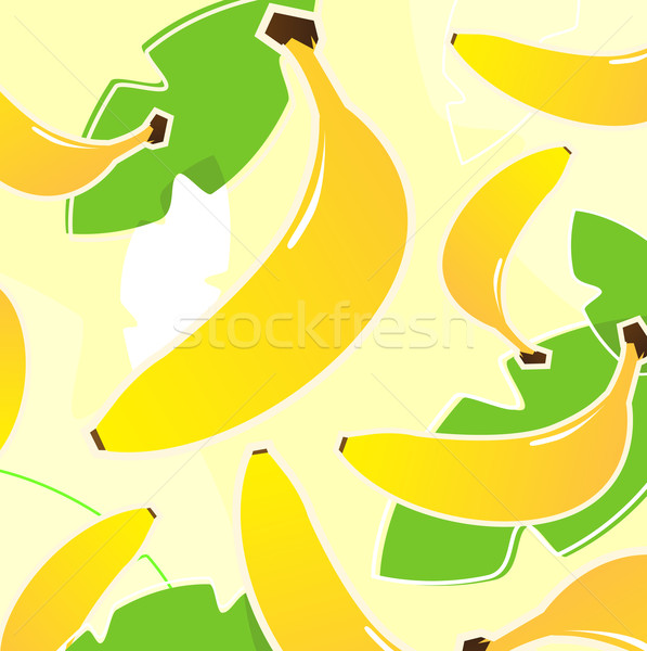 Banaan vers tropische vruchten textuur patroon Geel Stockfoto © lordalea