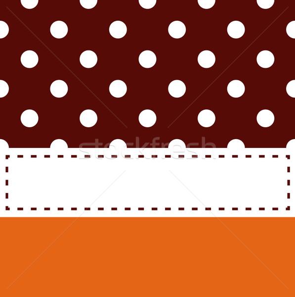Thanksgiving retro frame with polka dots Stock photo © lordalea