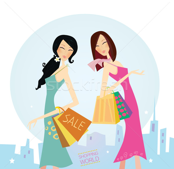 Shopping Women In The City  Stock photo © lordalea