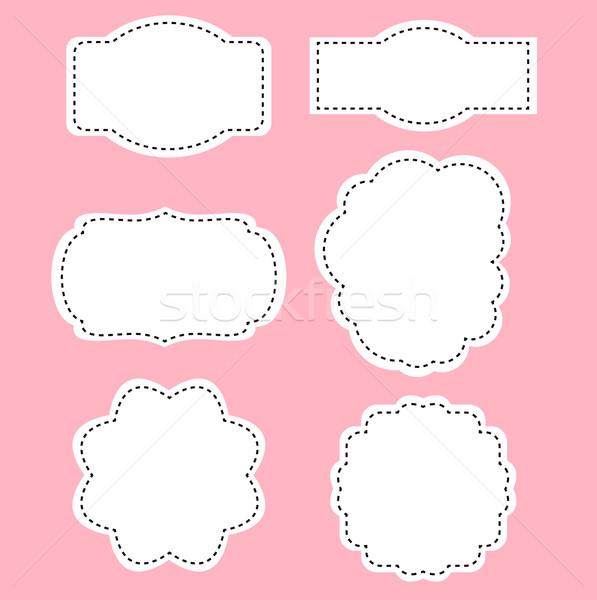 романтика белый Этикетки розовый аннотация печать Сток-фото © lordalea