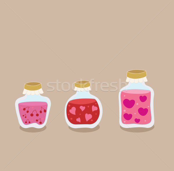 Morango cereja amor congestionamento fruto Foto stock © lordalea