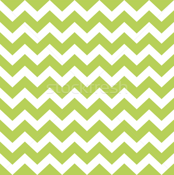 Zigzag pattern in wild green isolated on white Stock photo © lordalea