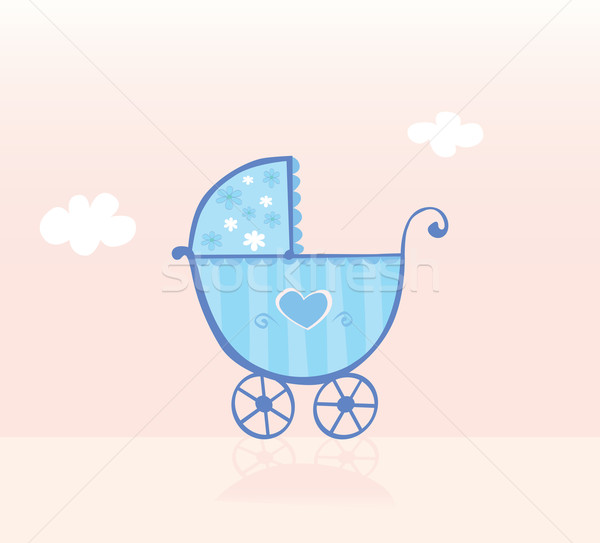 Blue Pram Or Stroller For Baby Boy  Stock photo © lordalea