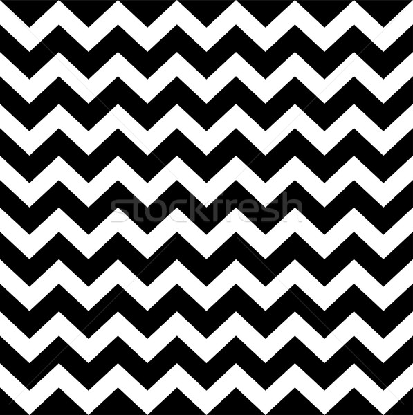 Zig zag simple pattern - black and white Stock photo © lordalea