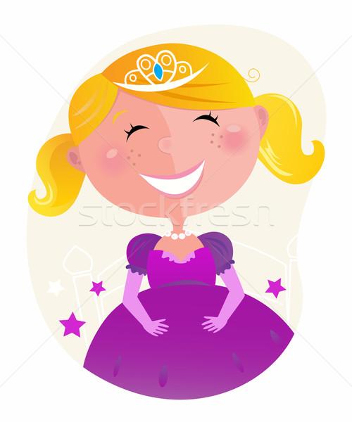 Stock fotó: Aranyos · kicsi · hercegnő · rózsaszín · ruha · tiara