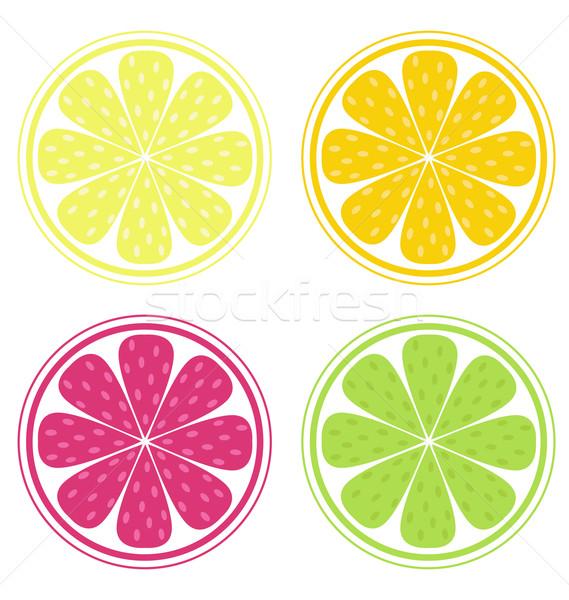Citrus fruit geïsoleerd witte citroen kalk Stockfoto © lordalea