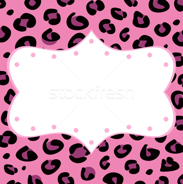 Leopard retro frame for your text Stock photo © lordalea