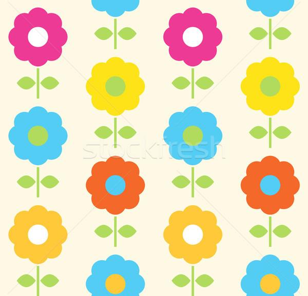 Stock photo: Spring flower seamless pattern vector design