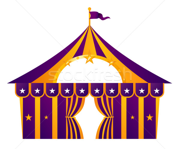 Purple circus tent isolated on white Stock photo © lordalea