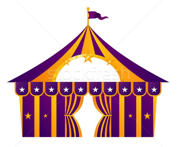 Mor sirk çadır yalıtılmış beyaz örnek Stok fotoğraf © lordalea