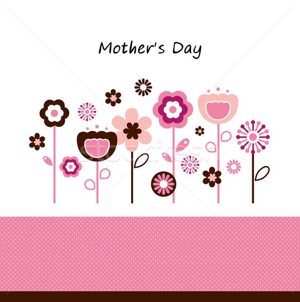 Belo flores mães dia celebração rosa Foto stock © lordalea