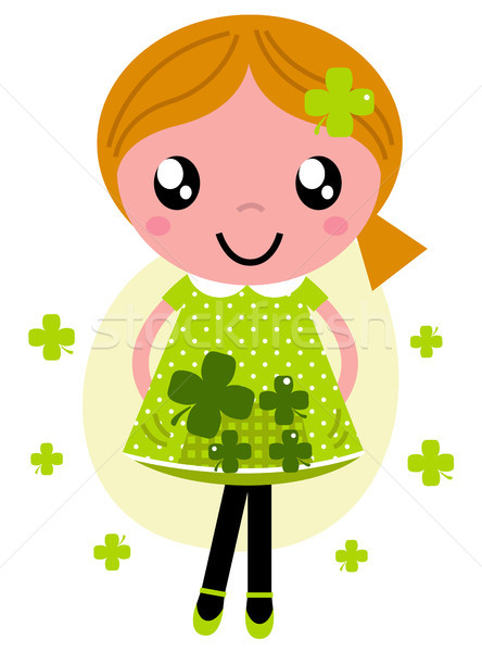 Little cute red hair girl for Saint Patrick's Day Stock photo © lordalea