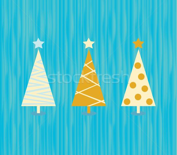 Vintage christmas tree pattern Stock photo © lordalea