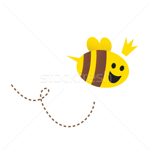 Stock photo: Mother / Queen bee isolated on white background