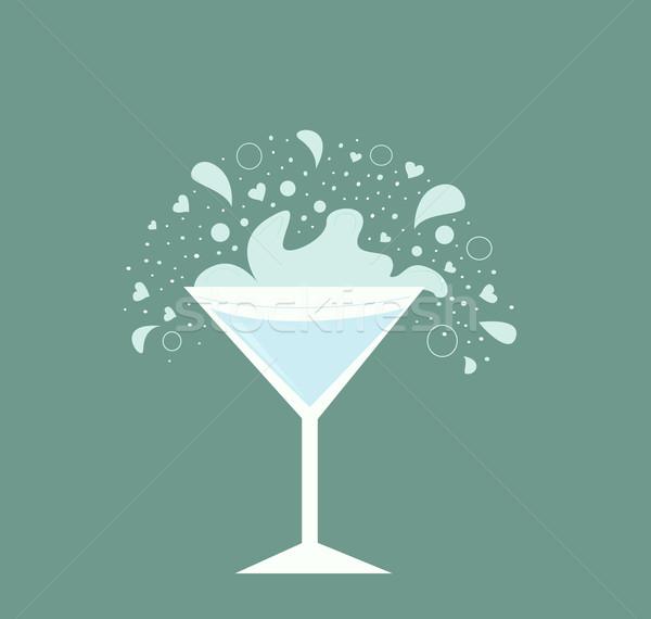 Martini beber vidro fresco neutro festa Foto stock © lordalea