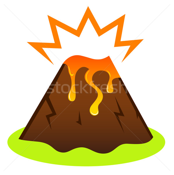Explosing volcano with lava Stock photo © lordalea