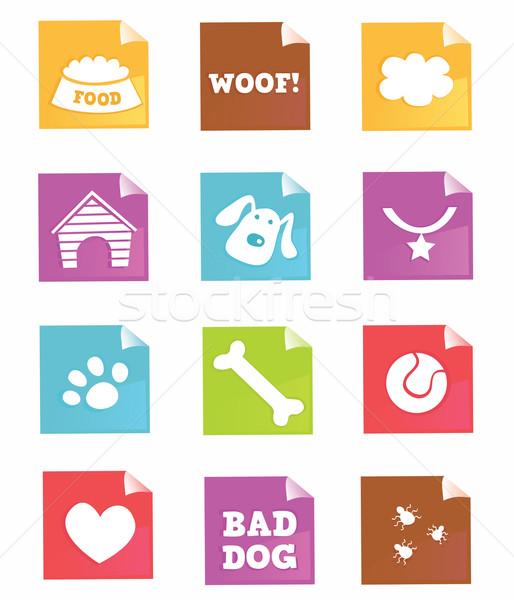 Dog Icons – Vector  Stock photo © lordalea